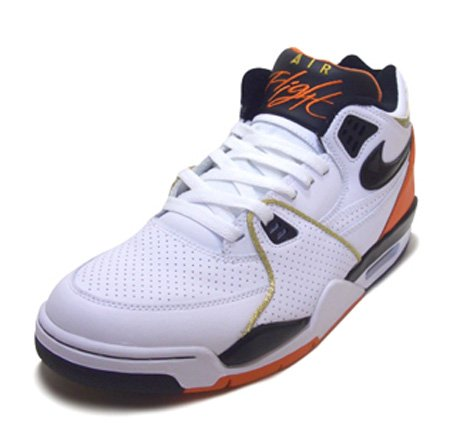 cheaper 0a629 199ae Nike Air Flight 89 - White   Black   Hyper Orange   Metallic Gold