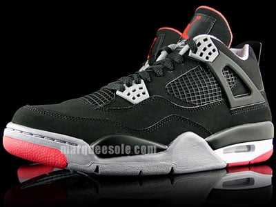 Air Jordan IV (4) Countdown Pack - Black   Cement Grey - Fire Red ... 840b0ca808