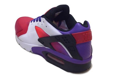 Nike B Huarache - Carmine / White / Varsity Purple / Black