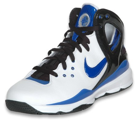 Nike Huarache '08 BBall - White / Royal / Black Finishline Exclusive
