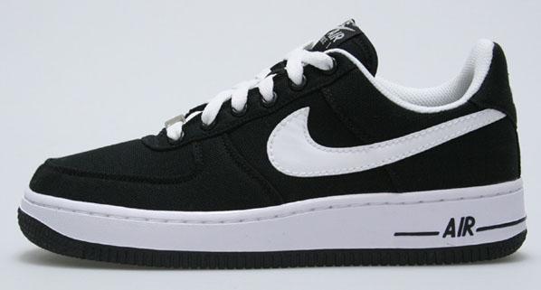 Nike Air Force 1 Canvas - Black / White