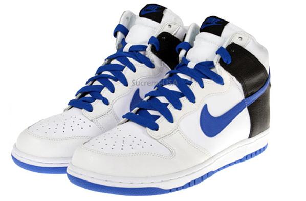 Nike Dunk High - White / Varsity Royal / Black
