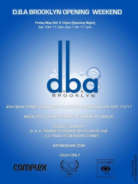 D.B.A Brooklyn Grand Opening