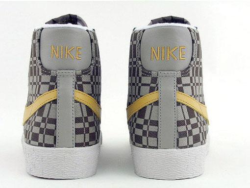 Nike Womens Blazer Mid Canvas - White / Gold / Khaki