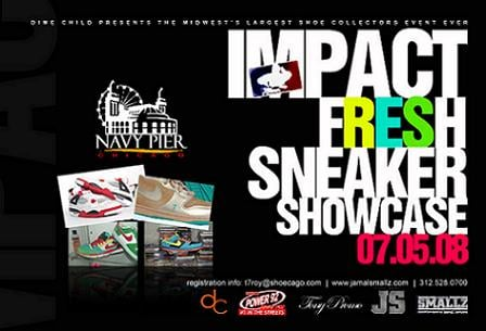 Chicago Sneaker Showcase reminder July 5th at Navy Pier