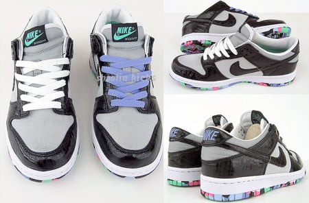 Nike Dunk Low Womens White   Black - Tourmaline  e13f024363