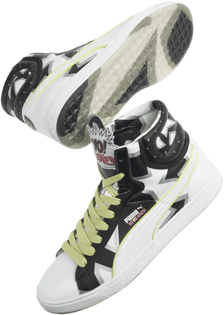Puma YO! MTV Raps First Round B4 White - Black - Green