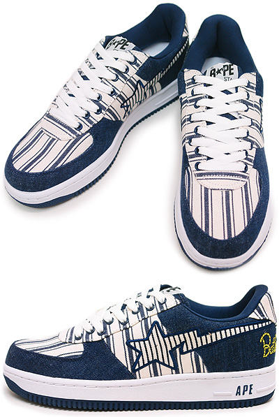 A Bathing Ape Denim Bapesta