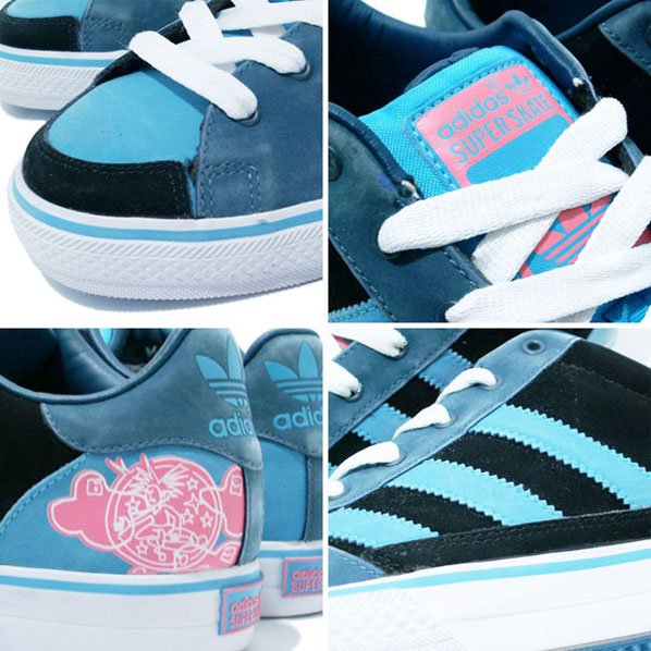 Adidas Superskate Vulcan Low  - Sax / Black / Pink