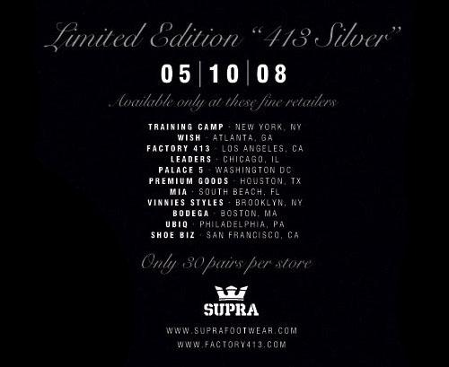 Supra Skytop - 413 Silver
