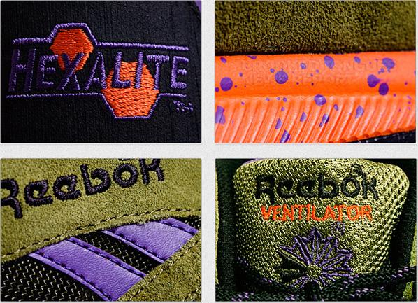 Reebok Ventilator - Olive / Black/ Purple / Orange