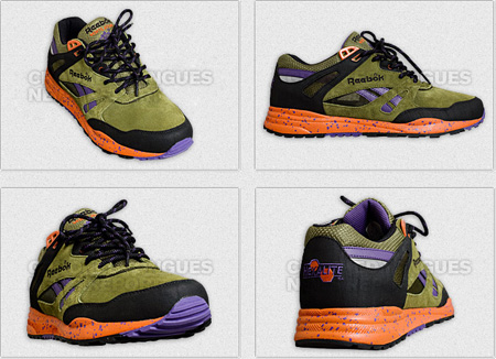 Reebok Ventilator - Olive / Black/ Purple / Orange