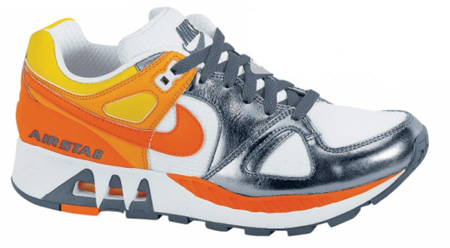 Nike Womens Air Stab - White / Orange Blaze / Flint Grey / Orange Peel