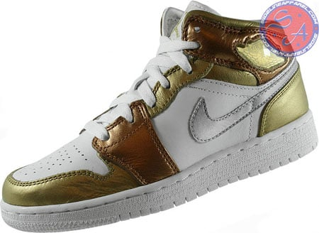 Air Jordan Retro 1 (I) GS Dream Team Pack Metallic / Gold - White - Metallic / Copper