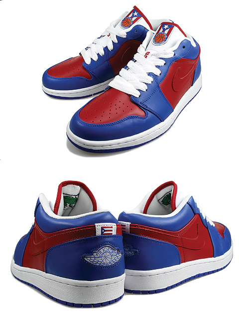 Air Jordan 1 (I) Retro Low Puerto Rico National Team Pack