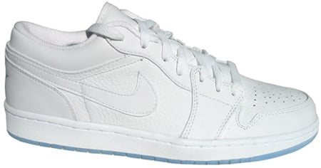 Air Jordan 1 (I) Retro Low White / White - Metallic Silver