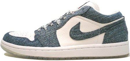 8b48349ab4ef Air Jordan 1 (I) Retro Womens Low White   Denim