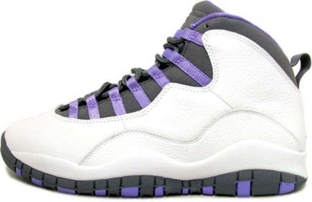 innovative design a319d 458fd Air Jordan 10 (X) Retro Womens White / Medium Violet - Light ...