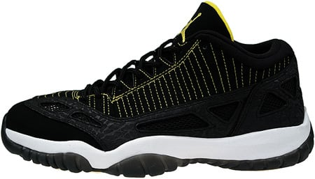 2f965071d0d0 Air Jordan 11 (XI) Retro IE Low Black   Zest - White