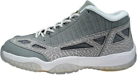Air Jordan 11 (XI) Retro IE Low Silver / Zest - White