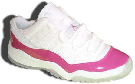 Air Jordan 11 (XI) Retro Youth (GS) Low White / Hot Pink