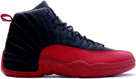 Air Jordan 12 (XII) Retro Black - Varsity Red