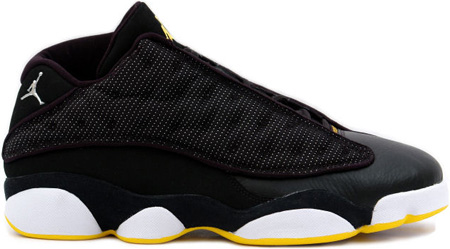 Air Jordan 13 (XIII) Retro Low Black / Metallic Silver - White - Varsity Maize