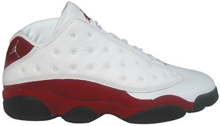 Air Jordan 13 (XIII) Retro Low White / Metallic Silver - Varsity Red - Black