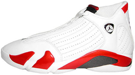 Air Jordan Original - OG 14 (XIV) Candy Cane White / Black - Varsity Red