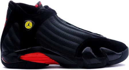 c05d898b271801 Air Jordan 14 (XIV) Retro Last Shot Black   Black - Varsity Red ...