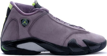Air Jordan 14 (XIV) Retro Light Graphite / Chartreuse - Black