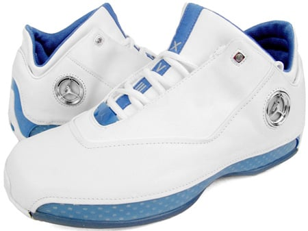 Air Jordan 18 (XVIII) Original – OG Low White / Chrome – University Blue – Metallic  Silver