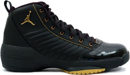 air jordan 19 black and gold