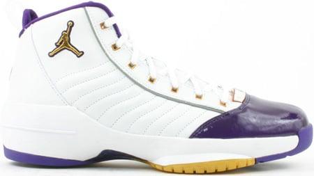 Air Jordan 19 (XIX) Original - OG SE West Coast White / Metallic Gold - Varsity Purple