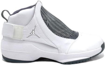 Air Jordan XIX (19) Original - OG White / Chrome / Flint Grey - Black