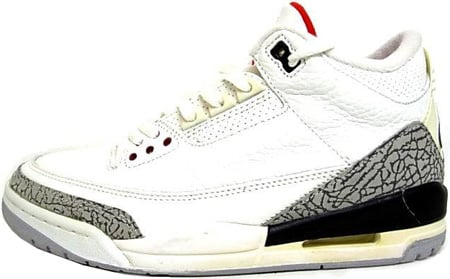 Air Jordan 3 (III) 1994 Retro White / Cement Grey