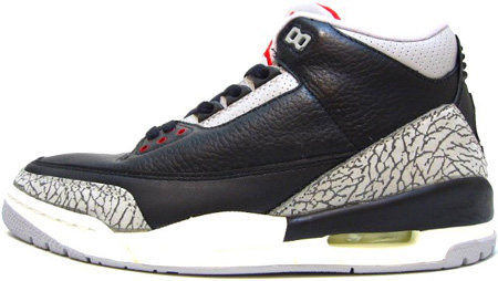Air Jordan 3 (III) Retro 1994 Black / Cement Grey