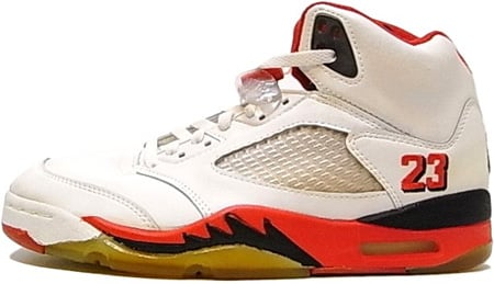 Air Jordan Original - OG 5 (V) Fire Reds White / Red - Black 23