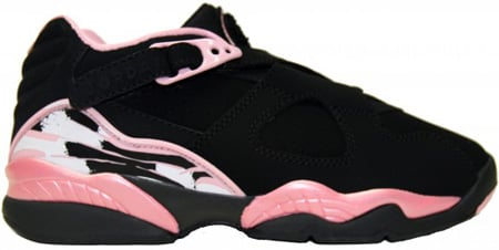 Air Jordan 8 (VIII) Retro Womens Low Black / Real Pine - White