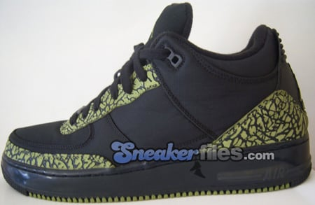 info for 59ac2 fa210 Air Jordan Force Fusion 3 (III) Black   Scenery Green Detailed Look