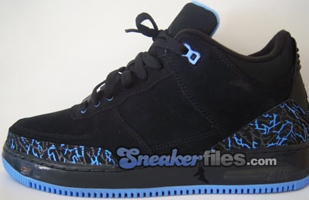 Air Jordan Force Fusion 3 (III) Black / University Blue - Anthracite Detailed Look