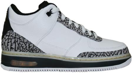 Air Jordan Force Fusion 3 (III) White / Metallic Silver - Black - Varsity Maize