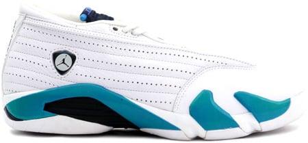 Air Jordan Original - OG 14 (XIV) Low White / Obsidian - Columbia Blue