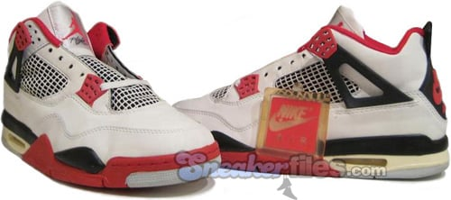 Air Jordan Original - OG 4 (IV) Fire Reds White / Red - Black