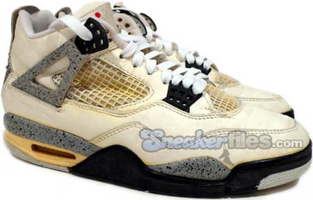 d6c49bb5f604 Air Jordan 4 (IV) Original - OG White Cement White   Black ...