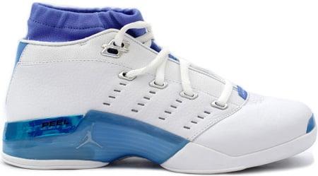 Air Jordan 17 (XVII) Original - OG Low White / University Blue / Black - Chrome