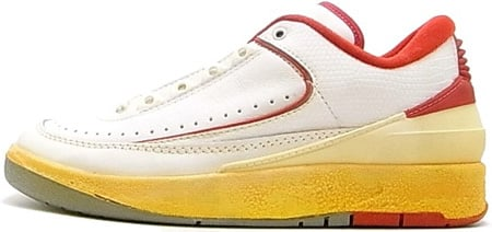 new style dccf3 e3685 Original Air Jordan 2 Low White Red Info