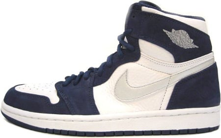 Air Jordan 1 (I) Retro Japan White / Metallic Silver - Midnight Navy