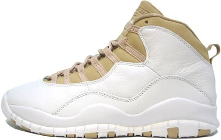 Air Jordan 10 (X) Retro White / Linen - University Blue