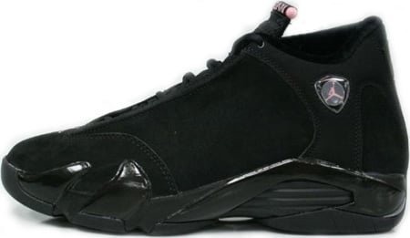 Air Jordan 14 Womens Black/Real Pink-Metallic Silver